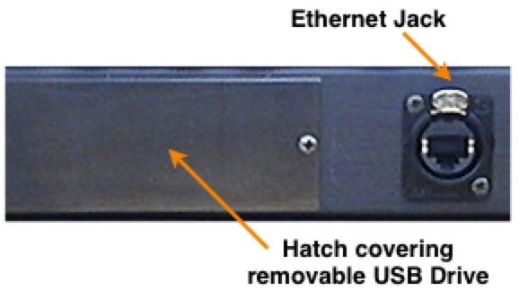 superconductor hatch for usb and ethernet jack
